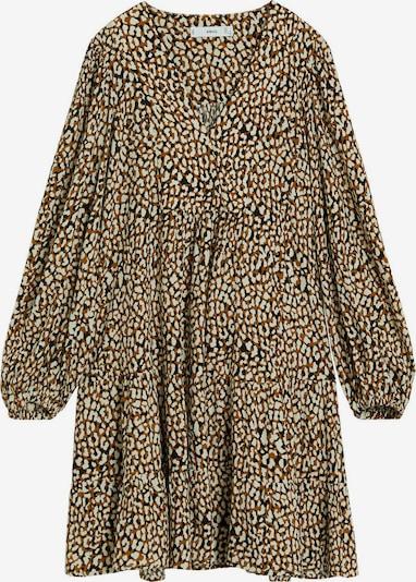 MANGO Kleid in braun / gelb, Produktansicht