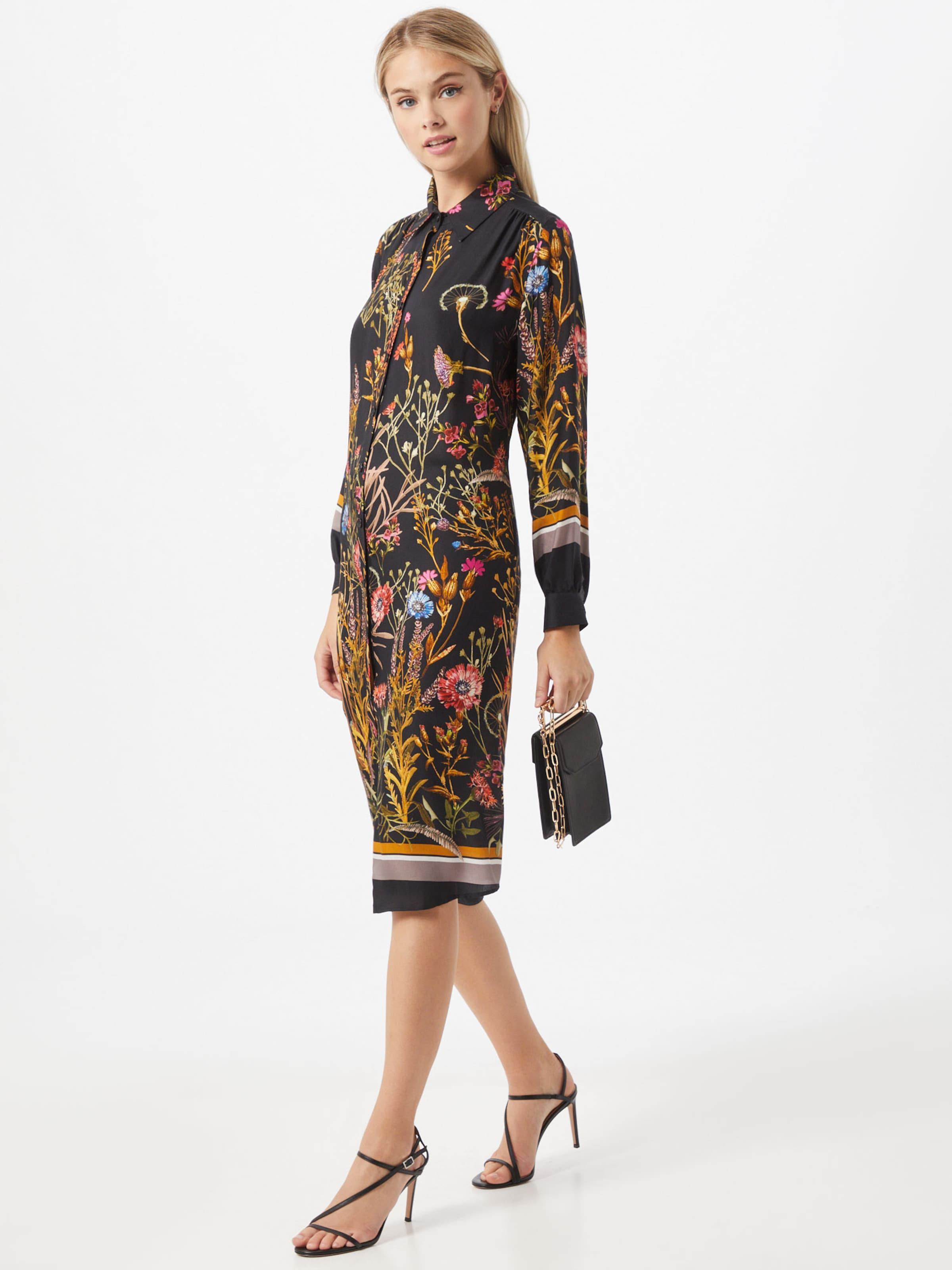 SAND COPENHAGEN Skjortklänning 'Asia' i blandade färger / svart
