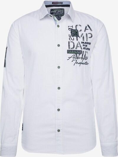 CAMP DAVID Hemd in nachtblau / weiß, Produktansicht
