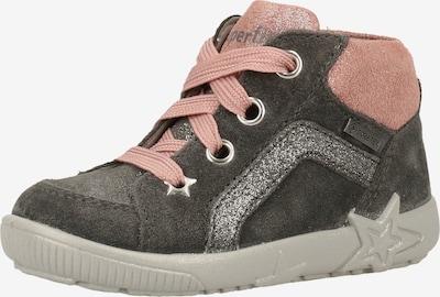 SUPERFIT Sneaker in grau / rosa / silber, Produktansicht