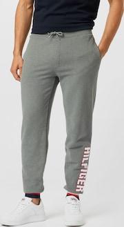 TOMMY HILFIGER teplákové nohavice - námornícka modrá / sivá melírovaná / červená / biela