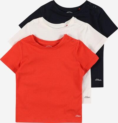 s.Oliver T-Shirt in dunkelblau / rot / weiß, Produktansicht