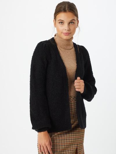 VILA Strickjacke 'Bossa' in schwarz, Modelansicht