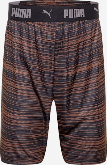 PUMA Sporthose in dunkelgrau / dunkelorange / schwarz, Produktansicht