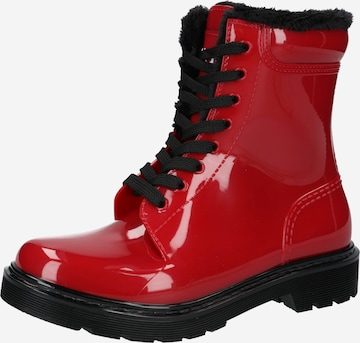 HUGO Lace-Up Boots 'Gamma' in Red