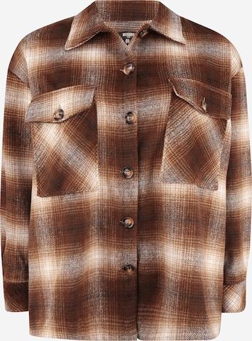 Missguided Plus Between-Season Jacket in Brown