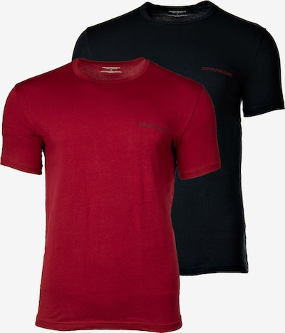 Emporio Armani T-Shirt in rot / schwarz, Produktansicht