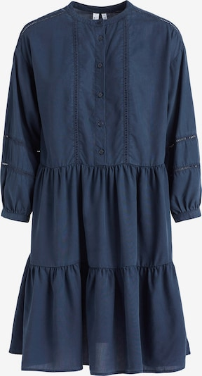 khujo Blousejurk 'Crepes' in de kleur Donkerblauw, Productweergave