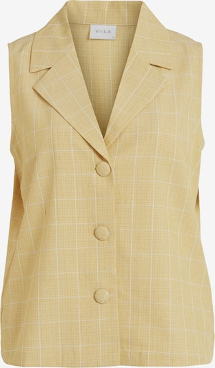 VILA Blouse 'Emily' in Pastel yellow / Off white, Item view