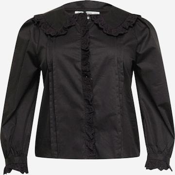 GLAMOROUS CURVE Bluse in Schwarz