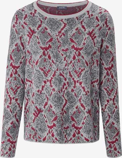 Basler Pullover in dunkelgrau / rot, Produktansicht