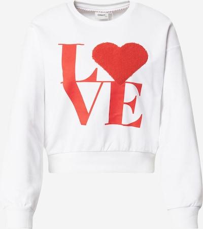 ONLY Majica 'Love' | rdeča / bela barva, Prikaz izdelka