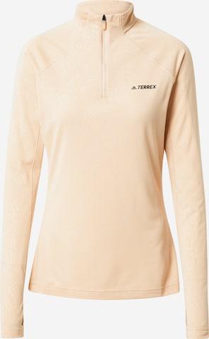 adidas Terrex Functioneel shirt in Roze