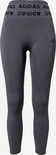 ADIDAS PERFORMANCE Sporthose in dunkelgrau / schwarz, Produktansicht