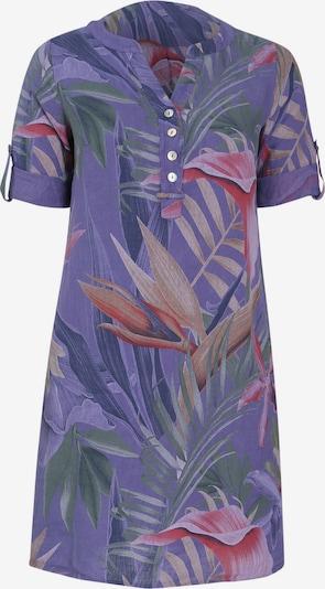 Paprika Kleid in braun / dunkelgrün / lila / dunkelpink, Produktansicht
