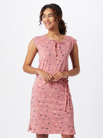 Ragwear Letní šaty 'Tetuan' - námořnická modř / světlemodrá / světle žlutá / starorůžová, Model/ka