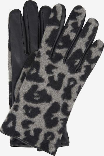 OPUS Fingerhandschuhe in hellgrau / schwarz, Produktansicht