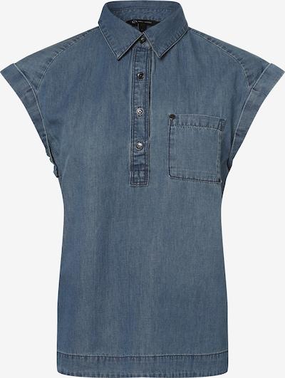 ARMANI EXCHANGE Bluse in blue denim, Produktansicht