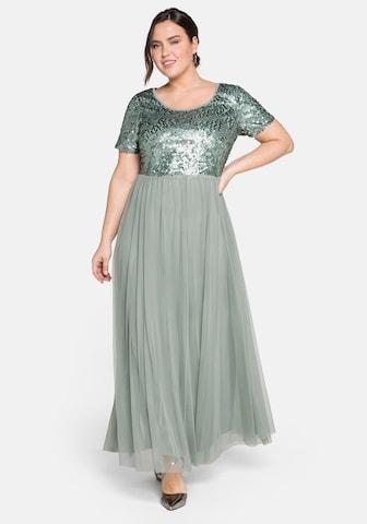 SHEEGO Večerné šaty - Želená