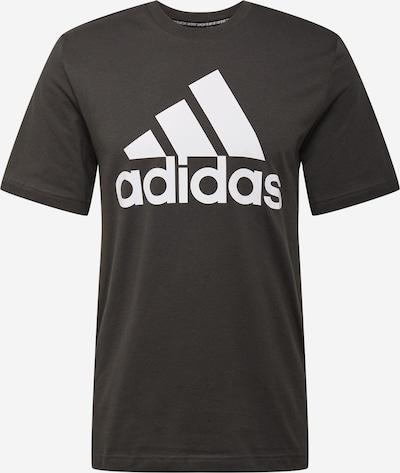 ADIDAS PERFORMANCE Sportshirt in dunkelgrün / weiß, Produktansicht