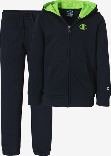 Champion Authentic Athletic Apparel Jogginganzug in neongrün, Produktansicht