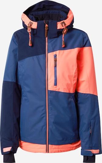 ICEPEAK Outdoor jakna 'CATHAY' u mornarsko plava / tamno plava / svijetloroza / crna, Pregled proizvoda