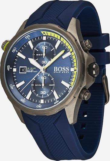 Analoginis (įprasto dizaino) laikrodis 'GLOBETROTTER, 1513821' iš BOSS , spalva - mėlyna / žalia, Prekių apžvalga