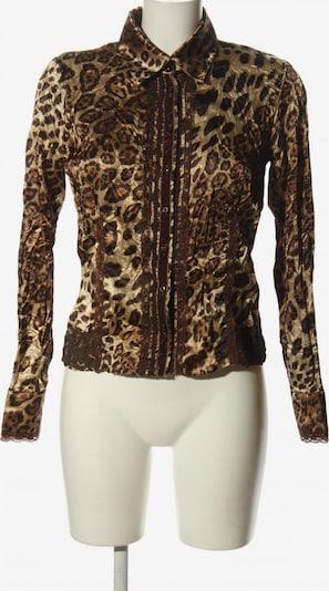 Crisca Langarm-Bluse in XS in braun / wollweiß, Produktansicht