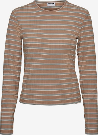 Tricou 'Stevie' Noisy may pe maro deschis / gri / roz pal / alb, Vizualizare produs