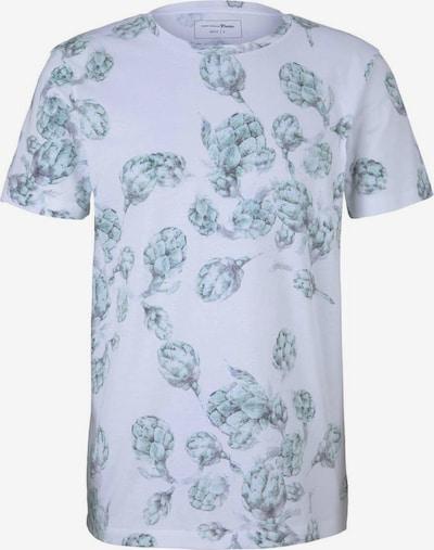 TOM TAILOR DENIM Shirt in hellblau / weiß, Produktansicht
