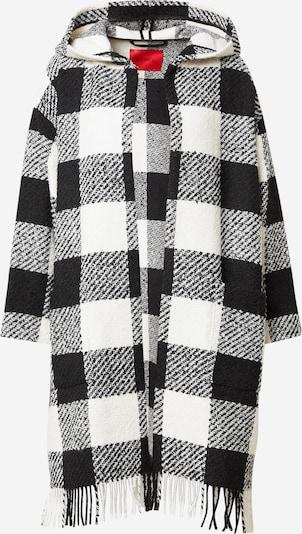 MAX&Co. Manteau en tricot 'FULGORE' en noir / blanc, Vue avec produit