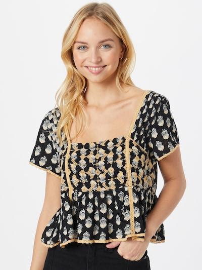 American Eagle Shirt in pastellgelb / schwarz / weiß, Modelansicht