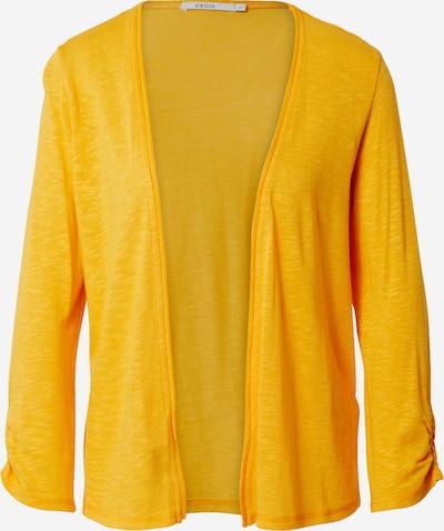 CECIL Strickjacke mit Raffung in gelb, Produktansicht