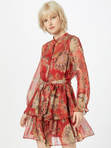Twinset Shirt Dress in Red
