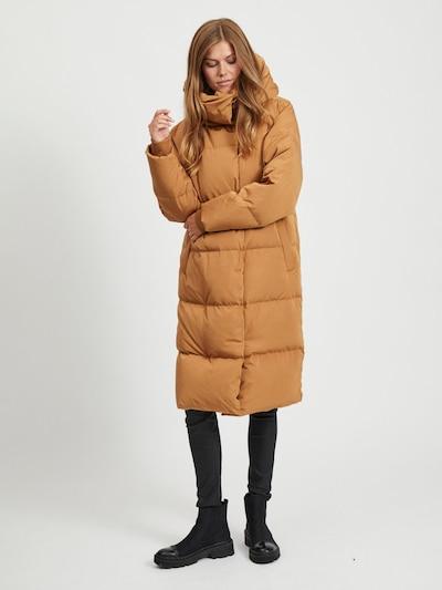 OBJECT Wintermantel in de kleur Karamel, Modelweergave