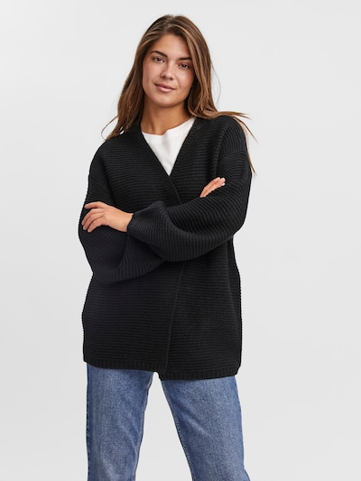 VERO MODA Knit Cardigan 'No Name' in Black, View model