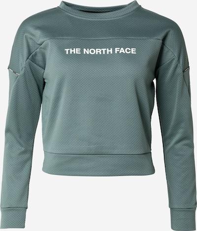 THE NORTH FACE Sportsweatshirt in grün / weiß, Produktansicht