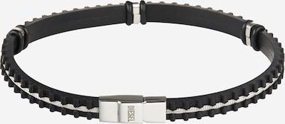 DIESEL Bracelet 'A-PHYTI' en noir / argent / blanc, Vue avec produit