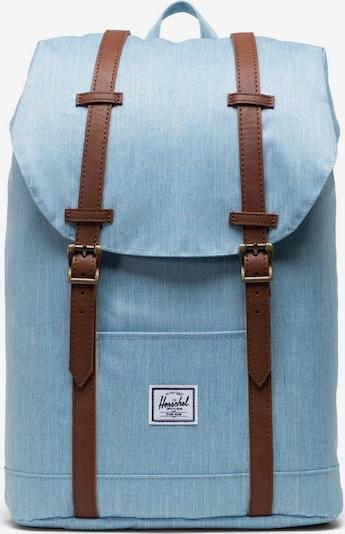 Herschel Backpack 'Retreat' in Light blue / Brown, Item view