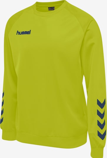 Hummel Sweatshirt in limone / schwarz, Produktansicht