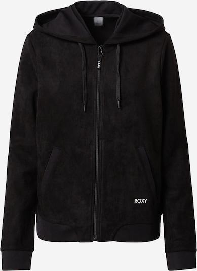ROXY Sportief sweatvest 'TONIGHT' in de kleur Zwart / Wit, Productweergave