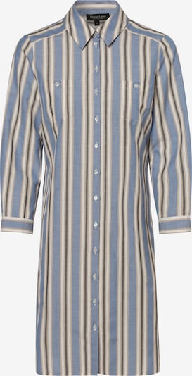 Marie Lund Blusenkleid in rauchblau / dunkelblau / gelb / weiß, Produktansicht