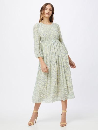 Rich & Royal Kleid in taubenblau / gelb / weiß, Modelansicht