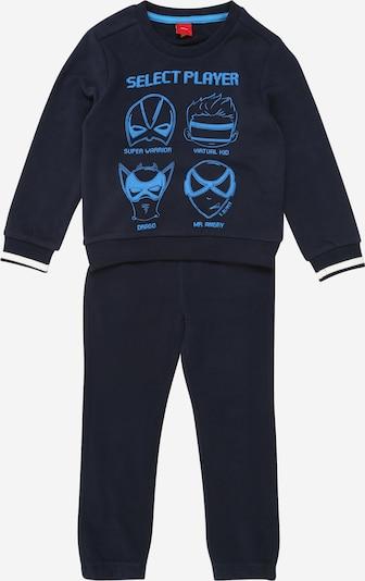 s.Oliver Junior Jogginganzug in himmelblau / dunkelblau / weiß, Produktansicht