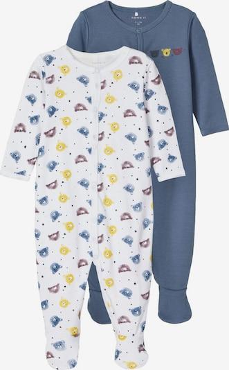 NAME IT Schlafanzug in blau / weiß, Produktansicht