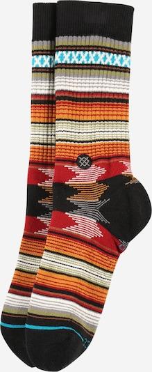 Stance Chaussettes de sport 'BARON' en turquoise / orange clair / rouge feu / noir / blanc, Vue avec produit