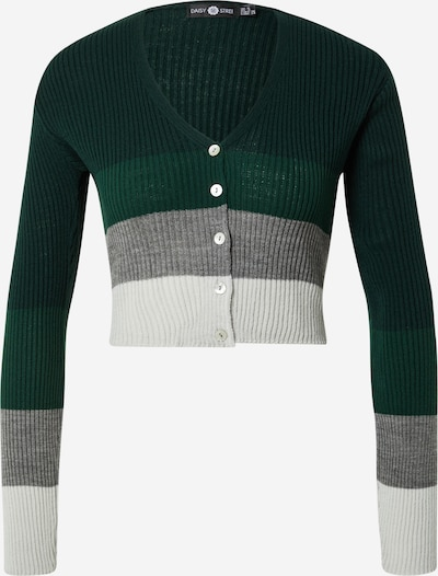 Daisy Street Strickjacke in grau / grün / schwarz, Produktansicht