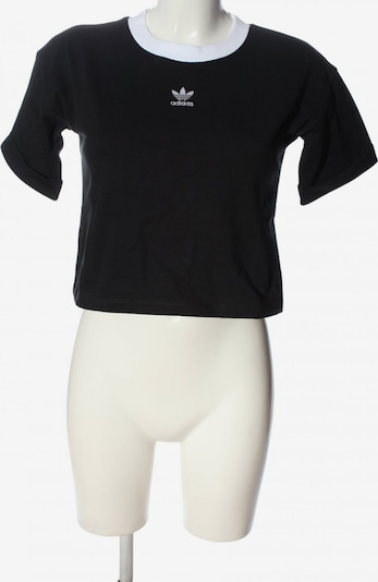 ADIDAS Cropped Shirt in S in schwarz, Produktansicht