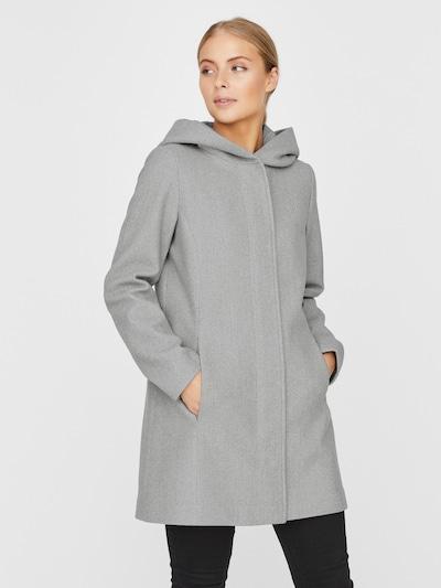 VERO MODA Between-Seasons Coat 'Dafnedora' in mottled grey, View model