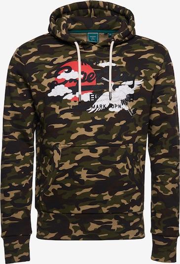 Superdry Snow Sportsweatshirt 'Rising Sun' in de kleur Marine / Kaki / Olijfgroen / Rood / Wit, Productweergave